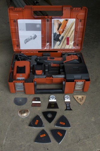 Fein MultiMaster kit contents 333x500 FEIN MultiMaster Cordless Kit AFMM 14 Review