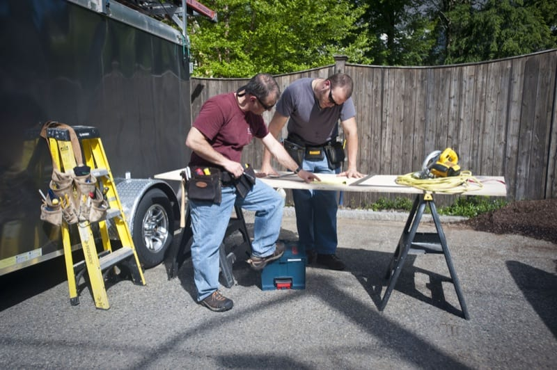 tool belts in use