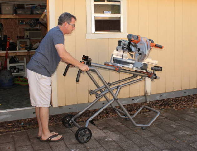 Ridgid 12 Quot Sliding Compound Miter Saw Amp Ms Uv Stand Ptr