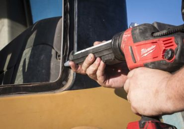 Milwaukee Cordless Caulk Gun window