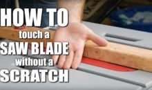 How to Touch a Spinning Saw Blade
