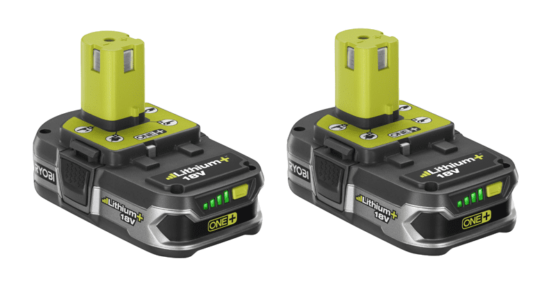 Ryobi Debuts New 1.5Ah and 4.0Ah 18V Lithium+ Batteries