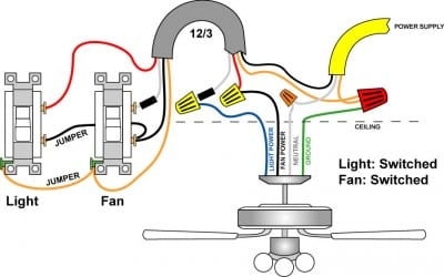 Wiring a ceiling fan and light pro tool reviews light switch fan switch 2, Wiring 3 Wire and a Ceiling Fan with Light