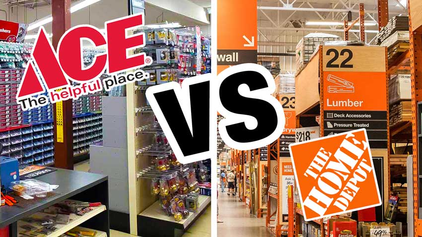 ace hardware vs home depot