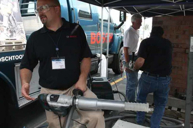 Bosch Rotary Hammer and Grinder Dust Shrouds application