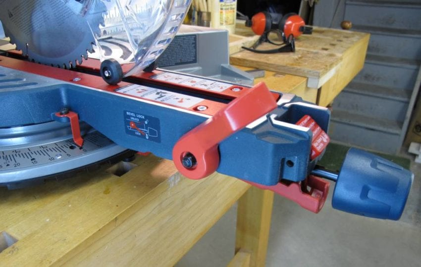 Bosch CM10GD Miter and Bevel Controls