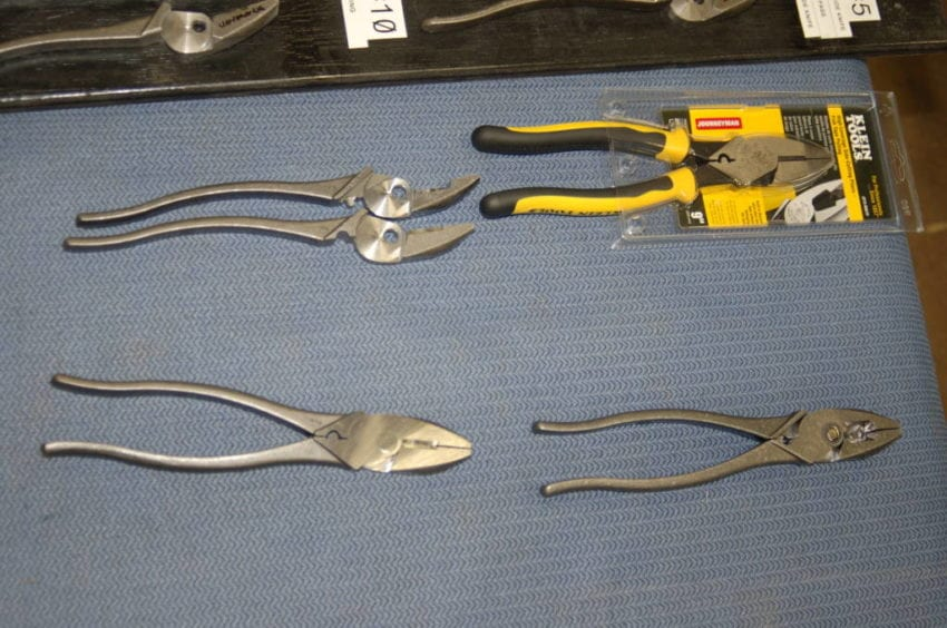 From separate forged handles to riveted, welded, and polished pliers ready to ship