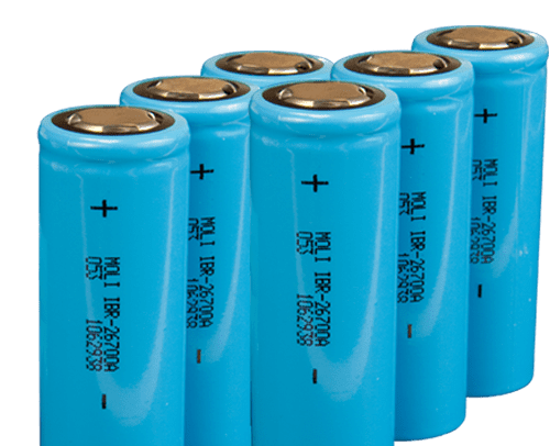 blue 18650 lithium-ion tool battery cells