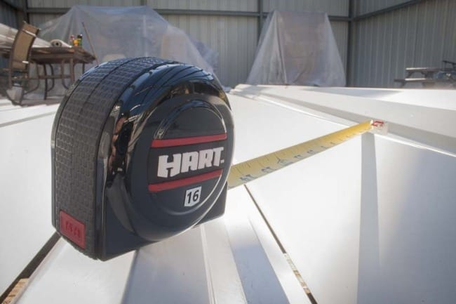 Hart magnetic tape angled