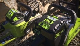 Greenworks 80V vs 40V chainsaw