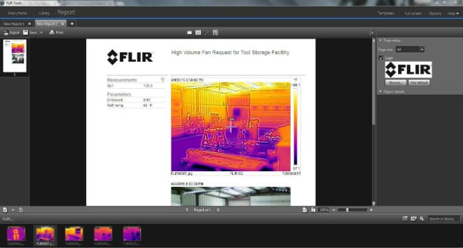 FLIR Tools Screen Shot