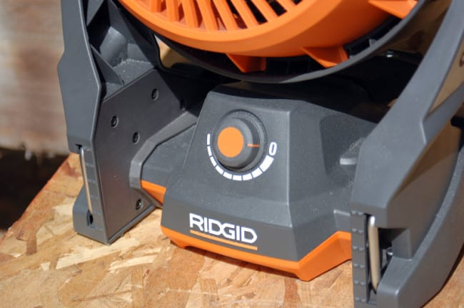 Ridgid Gen5X Hybrid Fan Variable Speed Dial