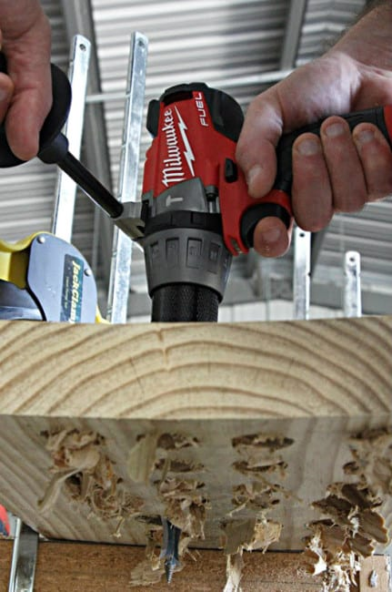 Milwaukee M18 Fuel Hammer Drill Action