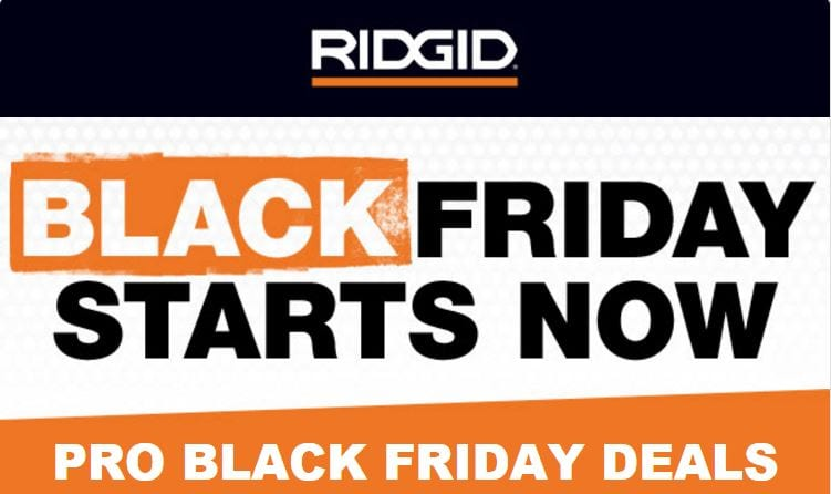 Ridgid Black Friday