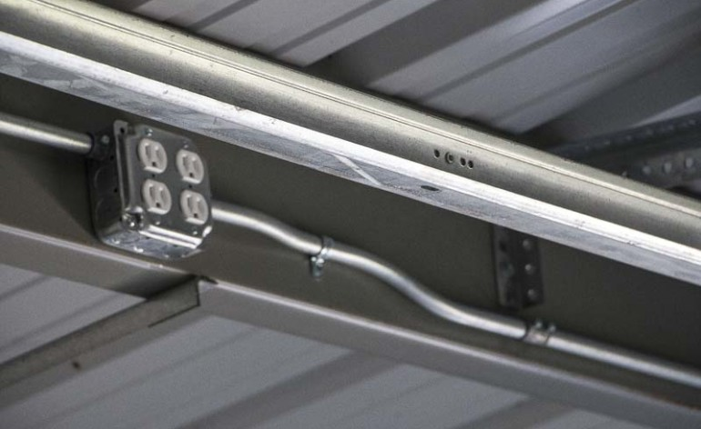Fabulous Steel Building Electrical Conduit Lighting Installation Wiring 101 Mecadwellnesstrialsorg