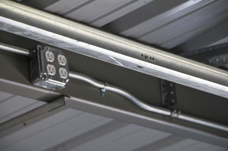 steel building electrical conduit amp lighting installation