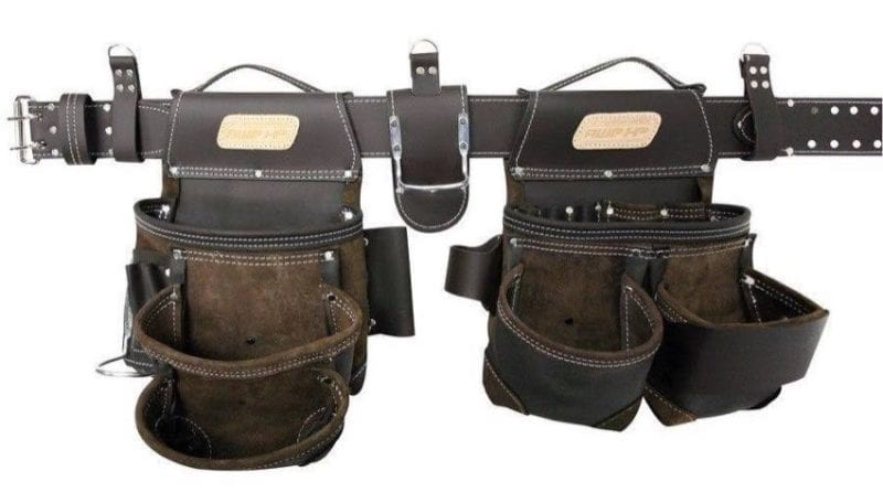 Best carpenters tool belt AWP HP General Construction Leather
