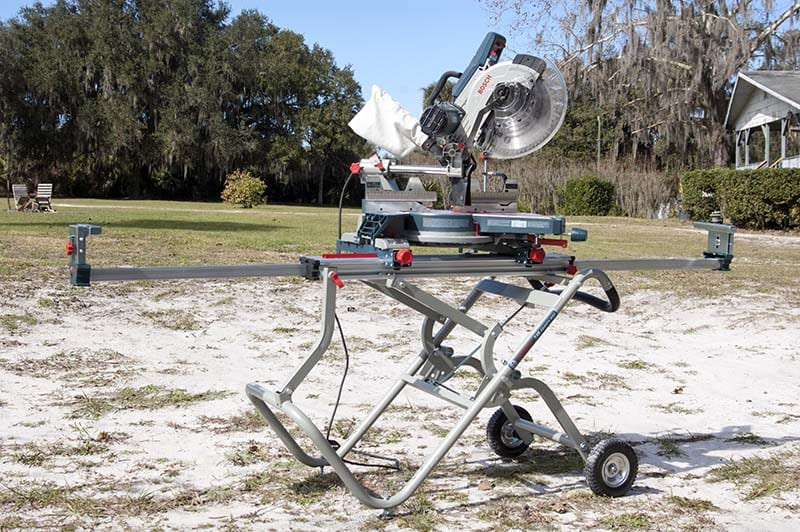Bosch CM12SD with T4B Miter Saw Stand