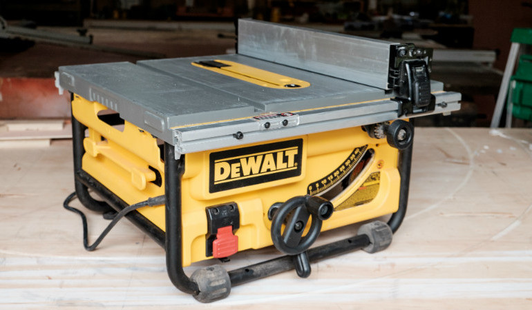 how to set up dewalt tile saw