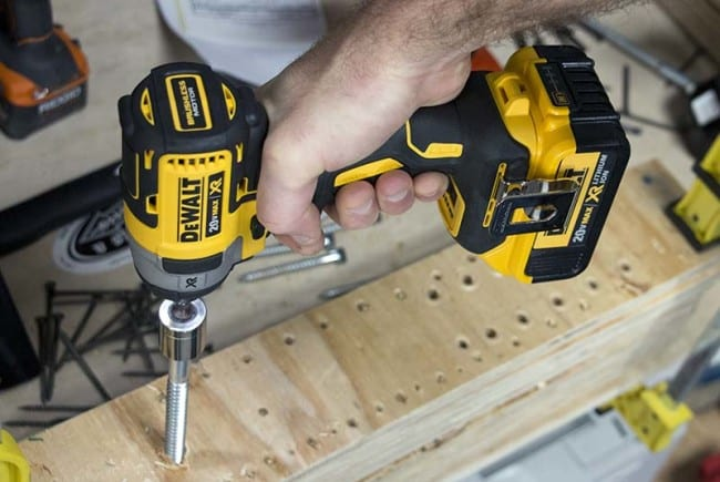 Best 18V Impact Driver Roundup - Large Lag Screw DeWalt DCF887