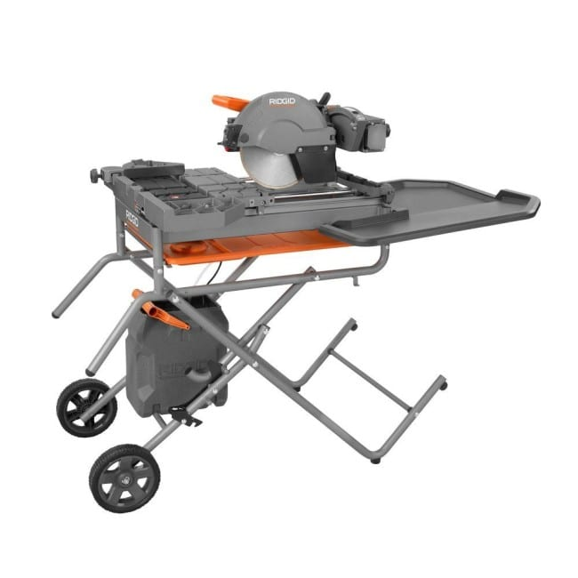 Ridgid 10-Inch Wet Tile Saw Stock Image
