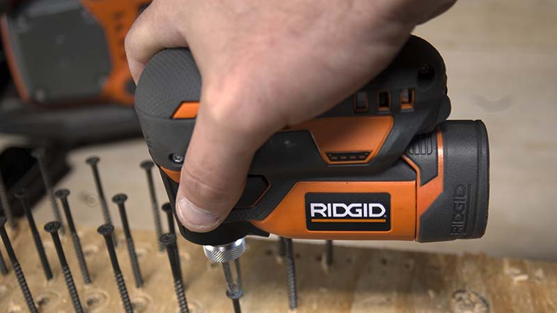 Ridgid 12V Palm Impact Screwdriver Action 2