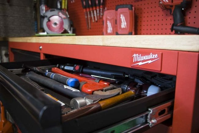 Milwaukee 60-inch work station drawer