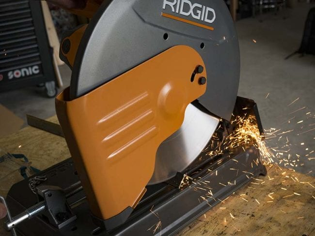 Ridgid 14-Inch Abrasive Cut Off Machine Chip Deflector