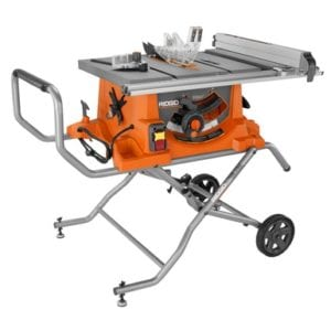 Ridgid R4513 Heavy Duty 10-inch Portable Table Saw With Stand