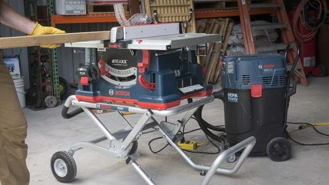 Best Portable Jobsite Table Saw Shootout -Bosch VAC 140 Dust Collector