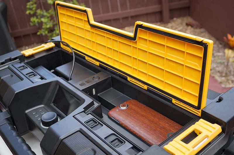 DeWalt ToughSystem Bluetooth radio Cord Compartment
