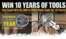Klein Tools Electrician of the Year 2016