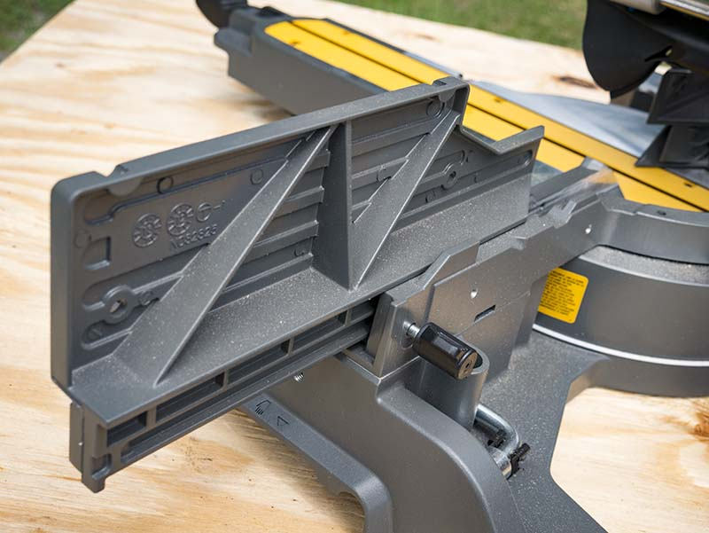 DeWalt FlexVolt 120V Max Double Bevel Sliding Compound Miter Saw Fence Extension