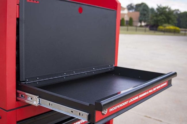 Milwaukee 30-Inch Steel Chest and Cabinet - Independent Locking Drawer