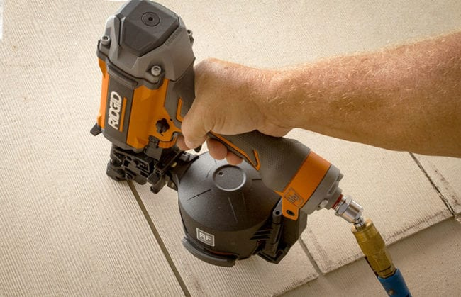 Ridgid R175RNF Coil Roofing Nailer