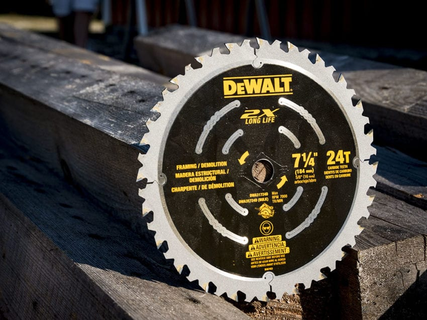 DeWalt 2X Demo Circular Saw Blade Review