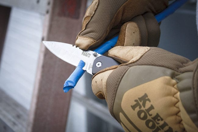 Klein Tools Electrician's Pocket Knife With Phillips Screwdriver