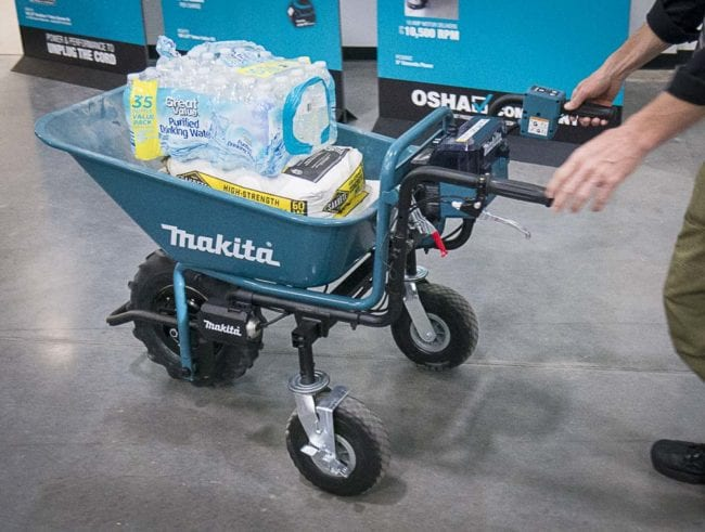 Makita X2 cordless mobile cart