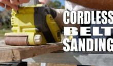 Ryobi Cordless Belt Sander Video Review