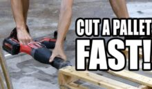 Fastest Way to Tear Down Pallets Using a Reciprocating Saw Video