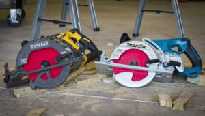 DeWalt FlexVolt Framing Saw Vs Makita Rear-Handle Saw