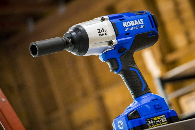 Kobalt 24-volt Max 1//2-in Drive Brushless Cordless Impact Wrench