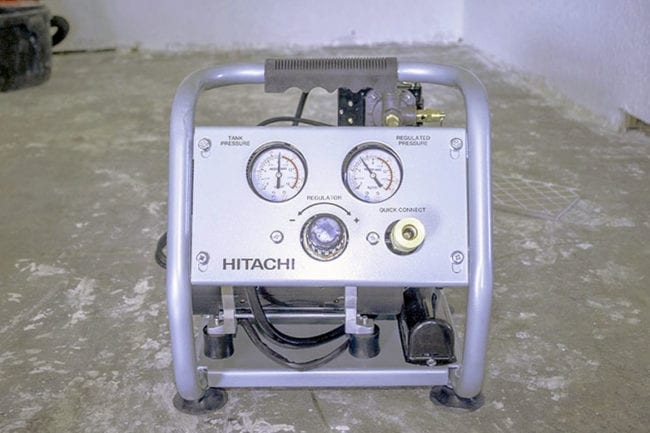 Hitachi Portable 1-Gallon Quiet Air Compressor