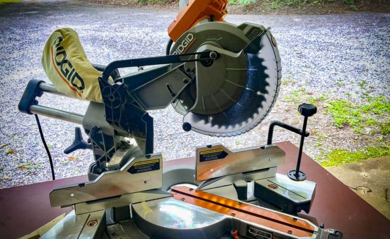 "Ridgid 10"" Dual Bevel Compound Miter Saw R4210 Review"