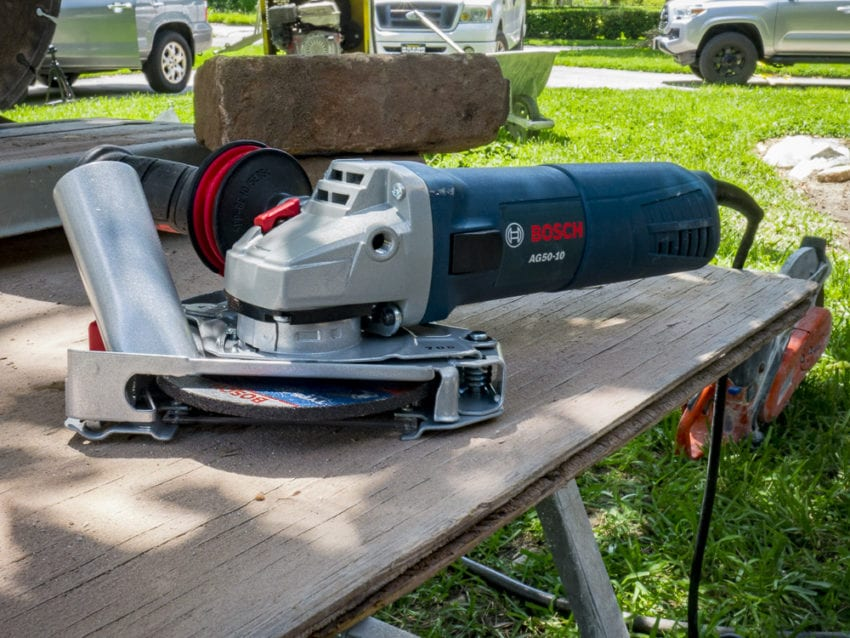 Bosch 5-Inch Angle Grinder with Tuckpointing Guard