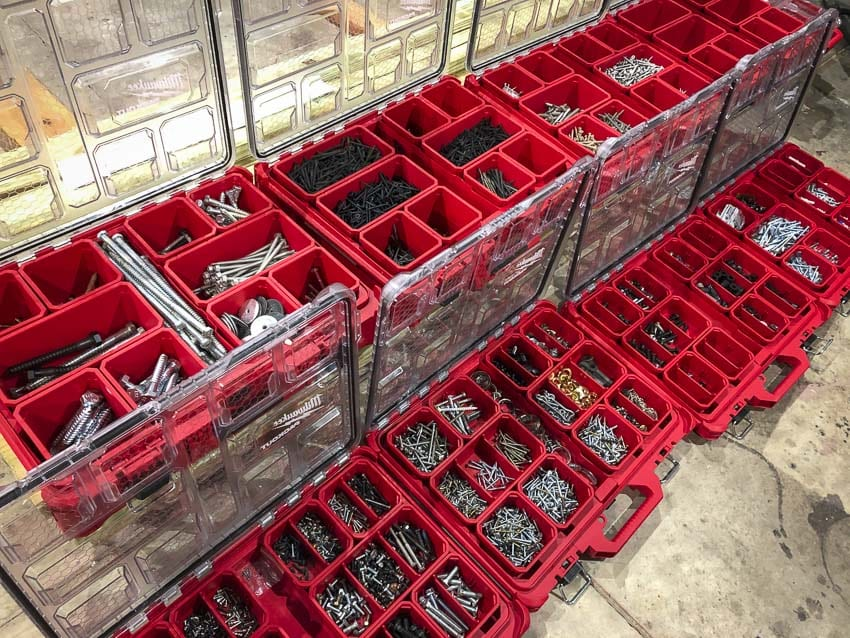 Organizing Screws And Nails Using Milwaukee Packout Best