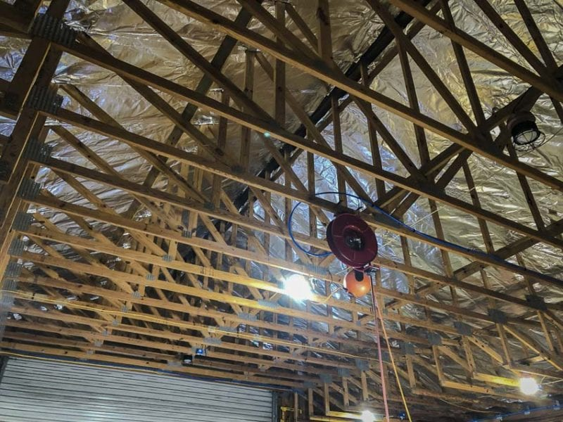 Completed radiant barrier installation
