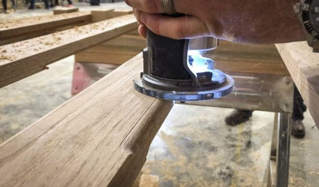 Milwaukee Cordless Compact Router roundover