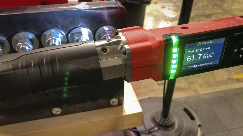 Milwaukee M12 Digital Torque Wrench green LEDs