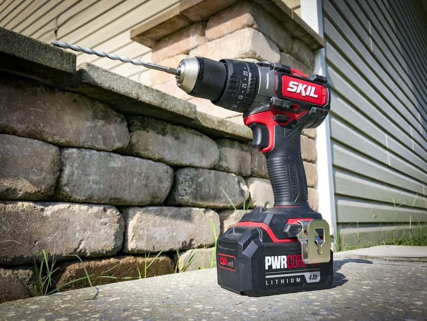 Hammer Drill vs Drill | Skil PWRCore20 Heavy-Duty Brushless Hammer Drill Profile